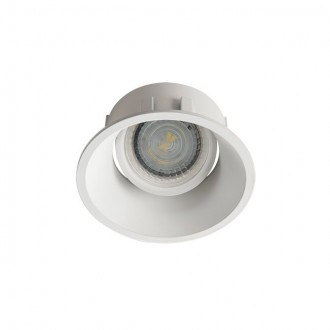 KANLUX 26736 | Ivri Kanlux ugradbena svjetiljka okrugli pomjerljivo, bez grla Ø92mm 1x MR16 / GU5.3 / GU10 bijelo