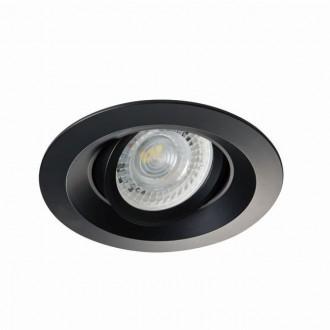 KANLUX 26743 | Colie Kanlux ugradbena svjetiljka okrugli pomjerljivo, bez grla Ø99mm 1x MR16 / GU5.3 / GU10 crno