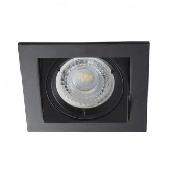 KANLUX 26754 | Alren Kanlux ugradbena svjetiljka četvrtast pomjerljivo, bez grla 94x94mm 1x MR16 / GU5.3 / GU10 crno