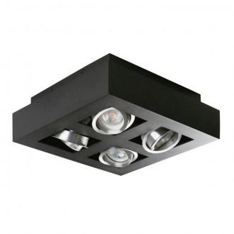 KANLUX 26836   Stobi Kanlux stropne svjetiljke svjetiljka četvrtast izvori svjetlosti koji se mogu okretati 4x GU10 / PAR16 crno