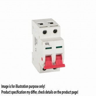 KANLUX 27254 | Kanlux izolacioni prekidač DIN35 modul, 2 - 25A svjetlo siva, crveno