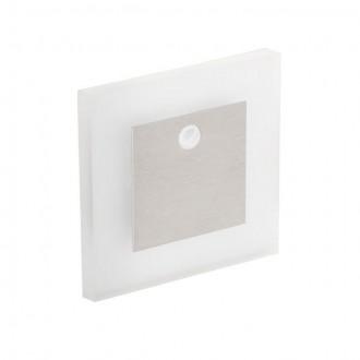 KANLUX 27371 | Kanlux-Apus Kanlux ugradbena svjetiljka četvrtast sa senzorom 75x75mm 1x LED 15lm 6500K plemeniti čelik, čelik sivo, prozirno