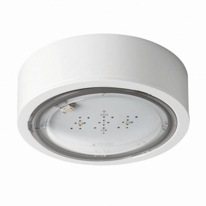 KANLUX 27381   iTech Kanlux panik rasvjeta sa dve funkcije 1h - zidna, stropne svjetiljke, ugradbena svjetiljka okrugli 1x LED 475lm 5000K IP65 bijelo