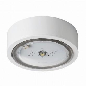 KANLUX 27382 | iTech Kanlux panik rasvjeta sa dve funkcije 3h - zidna, stropne svjetiljke, ugradbena svjetiljka okrugli 1x LED 215lm 5000K IP65 bijelo