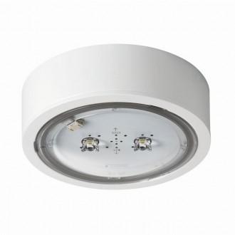 KANLUX 27383 | iTech Kanlux panik rasvjeta sa dve funkcije 1h - zidna, stropne svjetiljke, ugradbena svjetiljka okrugli 1x LED 452lm 5000K IP65 bijelo