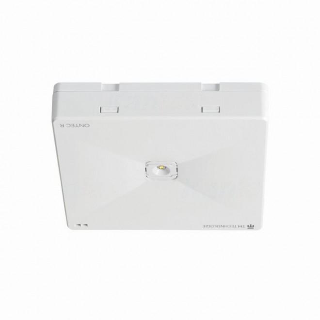 KANLUX 27390 | Ontec-R Kanlux panik rasvjeta sa dve funkcije 1h - zidna, stropne svjetiljke, ugradbena svjetiljka četvrtast 1x LED 261lm 5000K