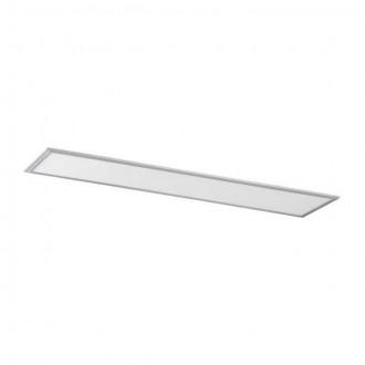 KANLUX 28023 | Bravo Kanlux spušteni plafon, stropne svjetiljke, visilice ultra SLIM LED panel pravotkutnik 1x LED 4000lm 4000K srebrno