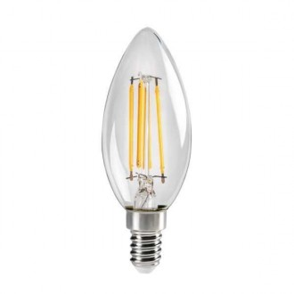 KANLUX 29618 | E14 4,5W -> 40W Kanlux oblik svijeće C35 LED izvori svjetlosti filament 470lm 2700K 320° CRI>80
