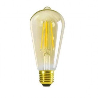 KANLUX 29637 | E27 7W -> 55W Kanlux Edison ST64 LED izvori svjetlosti filament 725lm 2500K 320° CRI>80
