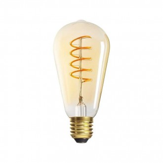KANLUX 29643 | E27 5W -> 25W Kanlux Edison ST64 LED izvori svjetlosti super warm - filament 270lm 1800K 320° CRI>80