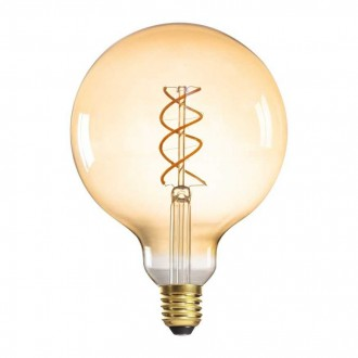 KANLUX 29645 | E27 5W -> 28W Kanlux velika kugla G125 LED izvori svjetlosti super warm - filament 290lm 1800K 320° CRI>80