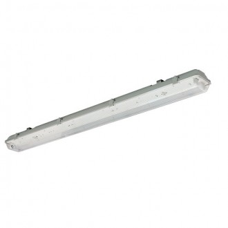 KANLUX 31048 | Dicht Kanlux stropne svjetiljke, visilice armatura 1x G13 / T8 IP65 sivo, prozirna