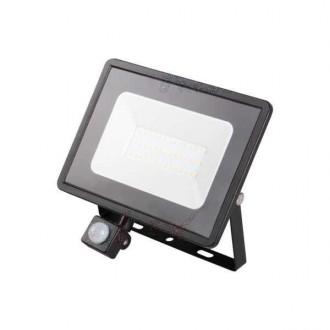 KANLUX 31156 | Grun Kanlux reflektor svjetiljka pravotkutnik sa senzorom elementi koji se mogu okretati 1x LED 2300lm 4000K IP44 crno