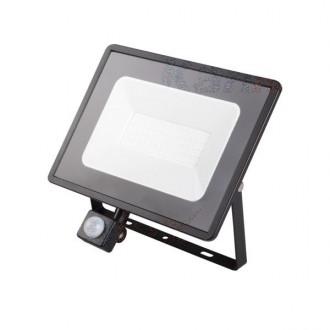 KANLUX 31157 | Grun Kanlux reflektor svjetiljka pravotkutnik sa senzorom elementi koji se mogu okretati 1x LED 3800lm 4000K IP44 crno