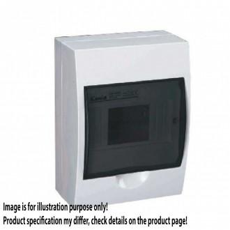 KANLUX 3831 | Kanlux zidna radjelna kutija DIN35, 6P pravotkutnik IP40 IK06 bijelo, smeđe