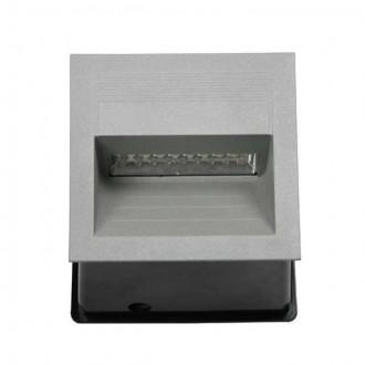 KANLUX 4684 | Lica-LED Kanlux ugradbena svjetiljka četvrtast 135x135mm 1x LED 4000K IP65 sivo