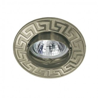 KANLUX 4688 | Rodos1 Kanlux ugradbena svjetiljka okrugli pomjerljivo Ø91mm 1x MR16 / GU5.3 antik bakar