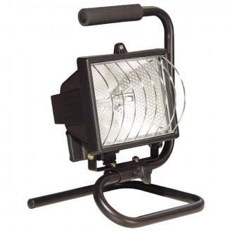 KANLUX 620 | Eliot Kanlux reflektor nosiva svjetiljka vilasti utikač - bez utikača elementi koji se mogu okretati 1x R7s IP54 crno, prozirno
