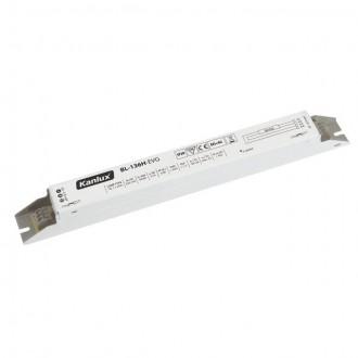 KANLUX 70481 | Kanlux uređaj za stabilizaciju 1x36W T8 prigušnica pravotkutnik bijelo