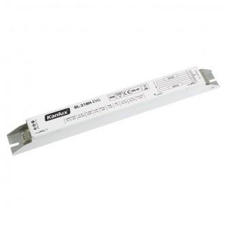 KANLUX 70483 | Kanlux uređaj za stabilizaciju 2x18W T8 prigušnica pravotkutnik bijelo