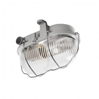 KANLUX 70522 | Milo1 Kanlux zidna, stropne svjetiljke svjetiljka 1x E27 IP43 IK06 sivo