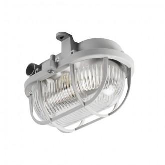 KANLUX 70523 | Milo1 Kanlux zidna, stropne svjetiljke svjetiljka 1x E27 IP43 IK06 sivo