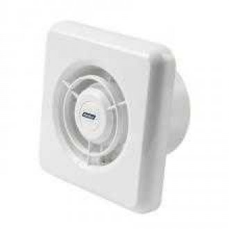 KANLUX 70904 | Kanlux kanalski ventilator Ø100 100m3/h četvrtast timer bez žaluzine, toplinski osigurač IP24 bijelo