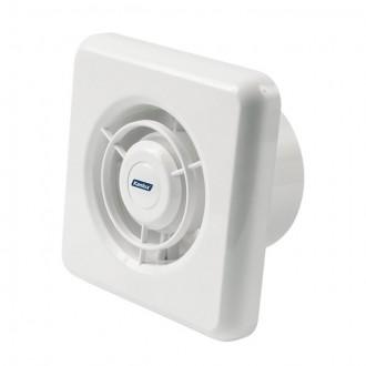 KANLUX 70905 | Kanlux kanalski ventilator Ø100 100m3/h četvrtast bez žaluzine, toplinski osigurač IP24 bijelo