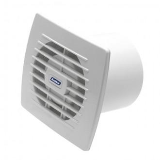 KANLUX 70910 | Kanlux kanalski ventilator Ø100 100m3/h pravotkutnik s poteznim prekidačem bez žaluzine, toplinski osigurač IP24 UV bijelo