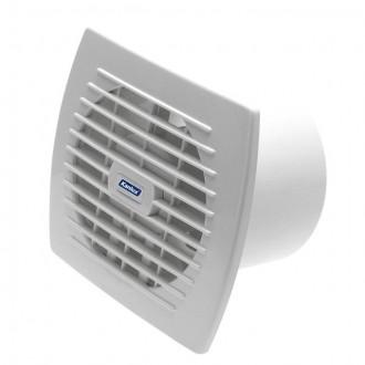 KANLUX 70916 | Kanlux kanalski ventilator Ø120 150m3/h pravotkutnik bez žaluzine, toplinski osigurač IP24 UV bijelo