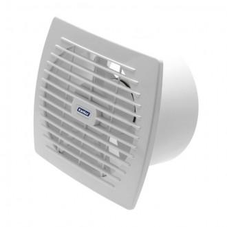 KANLUX 70920 | Kanlux kanalski ventilator Ø150 200m3/h pravotkutnik s poteznim prekidačem bez žaluzine, toplinski osigurač IP24 UV bijelo