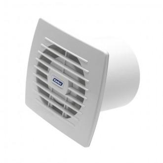 KANLUX 70936 | Kanlux kanalski ventilator Ø100 100m3/h pravotkutnik senzor vlage, timer bez žaluzine, toplinski osigurač IP24 UV bijelo
