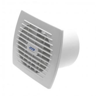 KANLUX 70942 | Kanlux kanalski ventilator Ø120 150m3/h pravotkutnik s poteznim prekidačem bez žaluzine, toplinski osigurač IP24 UV bijelo