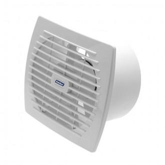 KANLUX 70946 | Kanlux kanalski ventilator Ø150 200m3/h pravotkutnik senzor vlage, timer bez žaluzine, toplinski osigurač IP24 UV bijelo