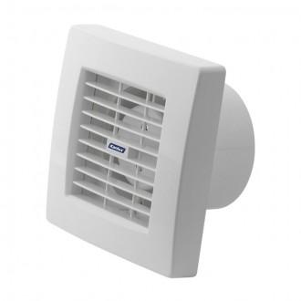KANLUX 70951 | Kanlux kanalski ventilator Ø100 100m3/h četvrtast senzor vlage, timer sa automatskom žaluzinom, toplinski osigurač IP24 UV bijelo