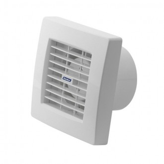 KANLUX 70953 | Kanlux kanalski ventilator Ø100 100m3/h četvrtast timer sa automatskom žaluzinom, toplinski osigurač IP24 UV bijelo