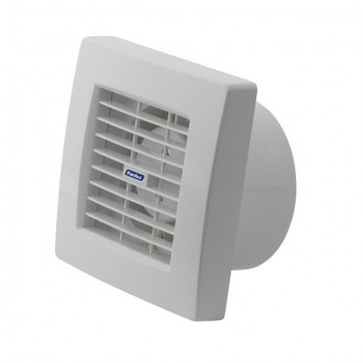 KANLUX 70956 | Kanlux kanalski ventilator Ø120 200m3/h četvrtast sa automatskom žaluzinom, toplinski osigurač IP24 UV bijelo
