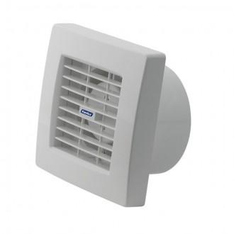 KANLUX 70958 | Kanlux kanalski ventilator Ø120 200m3/h četvrtast senzor vlage, timer sa automatskom žaluzinom, toplinski osigurač IP24 UV bijelo