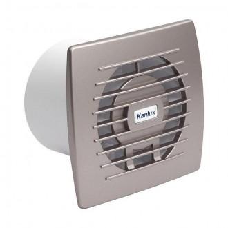 KANLUX 70973 | Kanlux kanalski ventilator Ø100 100m3/h pravotkutnik bez žaluzine, toplinski osigurač IP24 UV srebrno
