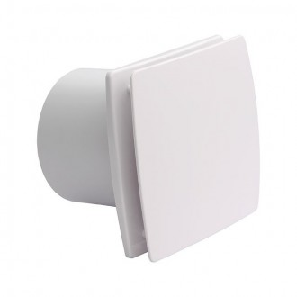 KANLUX 70975 | Kanlux kanalski ventilator Ø99 100m3/h pravotkutnik sa zatvorenim prednjim panelom, toplinski osigurač IP24 UV bijelo