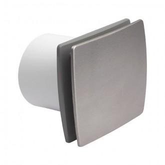 KANLUX 70976 | Kanlux kanalski ventilator Ø99 100m3/h pravotkutnik sa zatvorenim prednjim panelom, toplinski osigurač IP24 UV inox
