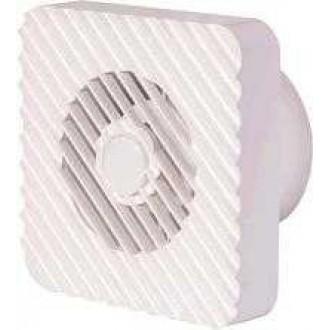 KANLUX 70993 | Kanlux kanalski ventilator Ø100 100m3/h četvrtast senzor vlage, timer bez žaluzine, toplinski osigurač IP24 UV bijelo
