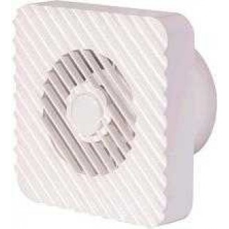 KANLUX 70995 | Kanlux kanalski ventilator Ø100 100m3/h četvrtast timer bez žaluzine, toplinski osigurač IP24 UV bijelo