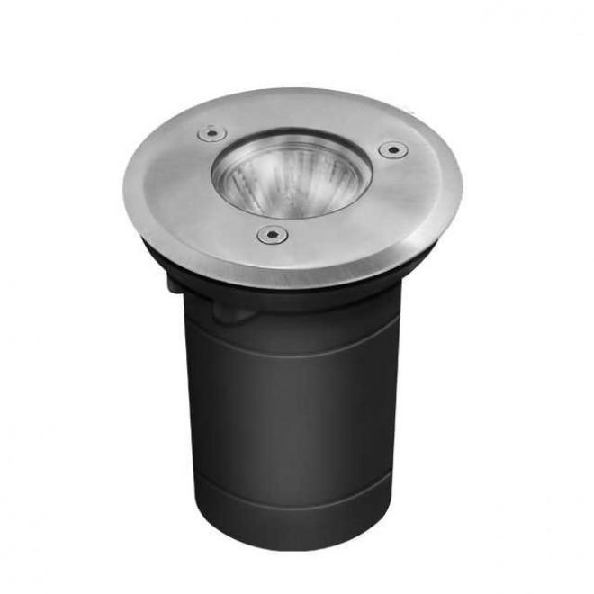 KANLUX 7170   Berg Kanlux ugradbena svjetiljka okrugli Ø113mm 1x GU10 IP67 IK08 kromni mat