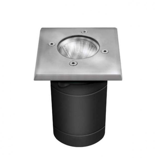 KANLUX 7171 | Berg Kanlux ugradbena svjetiljka četvrtast 1x GU10 IP67 IK08 kromni mat