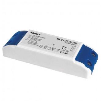 KANLUX 7301 | Kanlux LED napojna jedinica 700mA DC 5-8x 3W 15-36V pravotkutnik toplinski osigurač bijelo, plavo