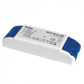 KANLUX 7302 | Kanlux LED napojna jedinica 350mA DC 10-18x 1W 30-72V pravotkutnik toplinski osigurač bijelo, plavo