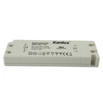 KANLUX 8550 | Kanlux LED napojna jedinica 12V DC 3-18W 1,5A pravotkutnik bijelo