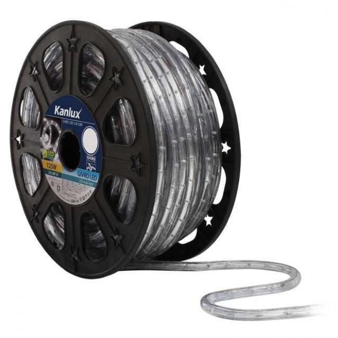 KANLUX 8630 | Givro Kanlux svijetleća cijev hladno bijela boja svjetleći kabel - 50 m 25x LED IP44 bijelo