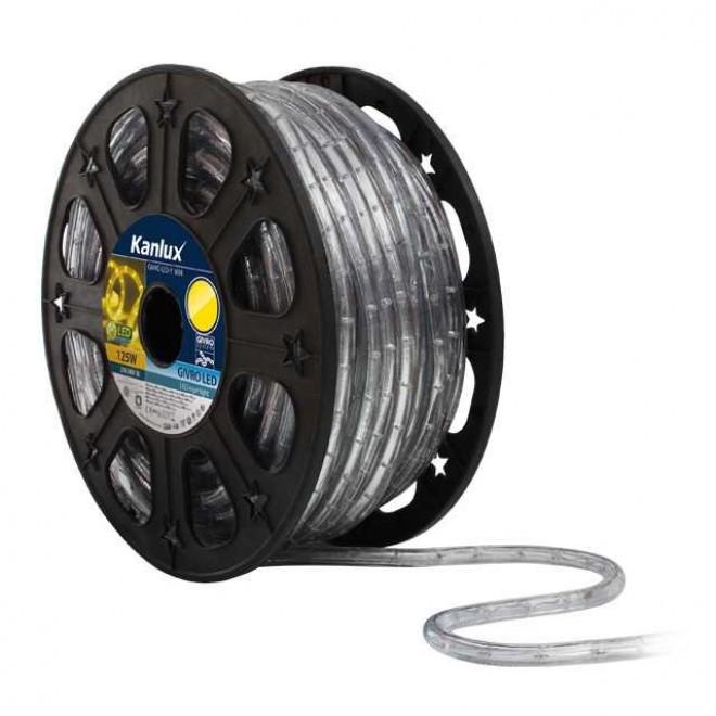KANLUX 8634 | Givro Kanlux svijetleća cijev žuto svjetleći kabel - 50 m 25x LED IP44 žuto